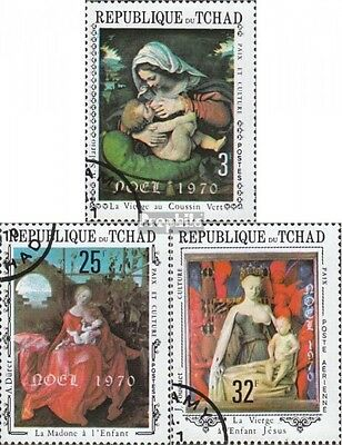 Chad 318-320 (complete issue) used 1970 christmas 1970 - Painti