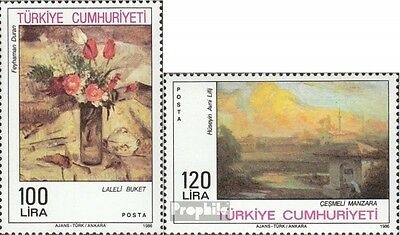 Turkey 2759-2760 (complete issue) unmounted mint / never hinged 1986 Paintings