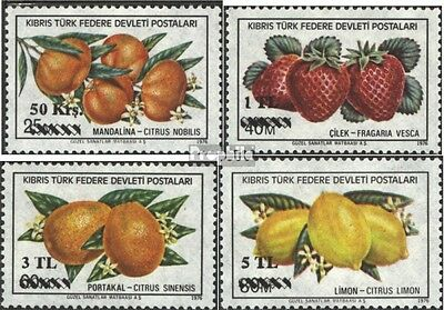 Turkish-Cyprus 66-69 (complete issue) used 1979 Fruits