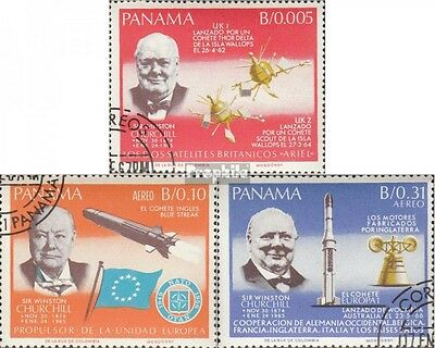 Panama 933A-935A (complete issue) used 1966 Churchill