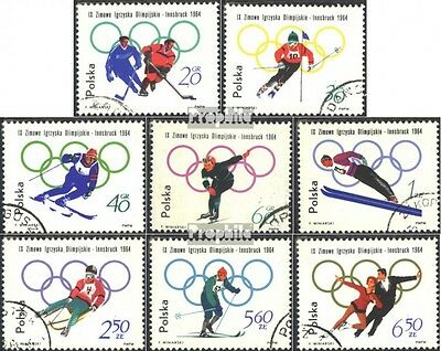 Poland 1457A-1464A (complete issue) unmounted mint / never hinged 1964 olympic.