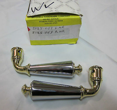 Baldwin 5125.063 LMR 5125.063 RMR Handles CHROME/POLISHED BRASS NEW!
