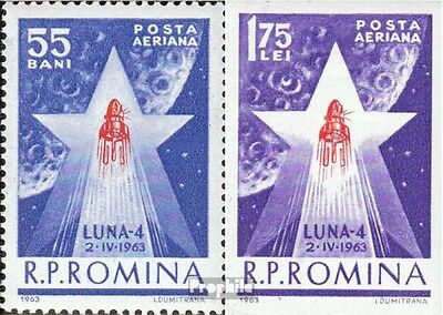 Romania 2143-2144 (complete issue) unmounted mint / never hinged 1963 Luna 4