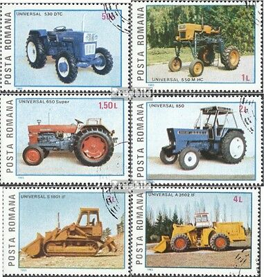 Romania 4179-4184 (complete issue) used 1985 Romanian Tractors