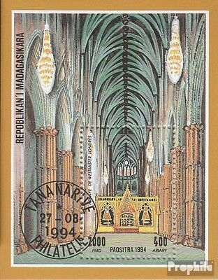 Madagascar block259 (complete issue) used 1994 Cathedrals