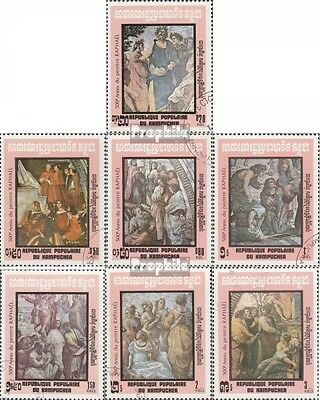 Cambodia 480-486 (complete issue) used 1983 Birthday of Raphael