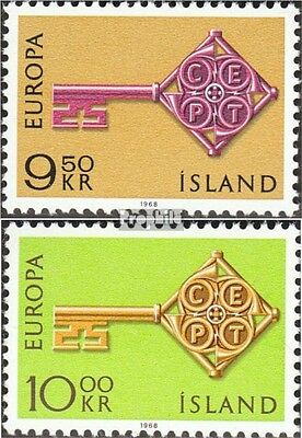 Iceland 417-418 (complete issue) unmounted mint / never hinged 1968 Europe
