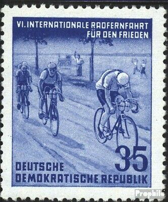 DDR 356 unmounted mint / never hinged 1953 International Radfernfahrt for the