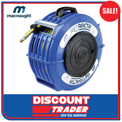 Macnaught 10mm x 20m RETRACTA High Quality Water Hose Reel AW100 - AW2101