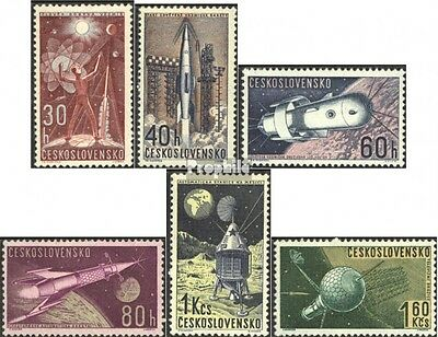 Czechoslovakia 1329-1334 (complete issue) used 1962 Space