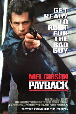 Payback - original DS movie poster  D/S 27x40 Mel Gibson