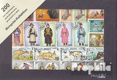 Mongolia 200 different stamps