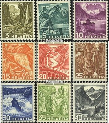 Switzerland 297-305 (complete.issue) used 1936 Landscapes