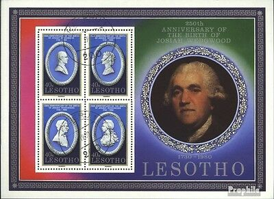 lesotho block6 (complete issue) used 1980 Josiah Wedgwood
