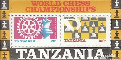 Tanzania block54 (complete issue) unmounted mint / never hinged 1986 Chess-WM