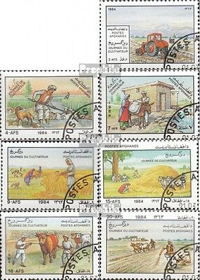 Afghanistan 1327-1333 (complete issue) used 1984 Day of Farmers