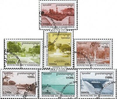 Cambodia 1748-1754 (complete issue) used 1997 Public Parks