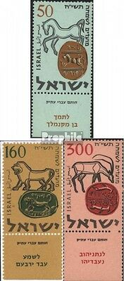Israel 145Zf-147Zf (complete issue) unmounted mint / never hinged 1957 Jewish Ne