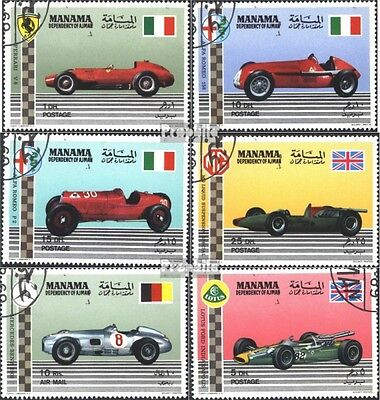 Manama 152A-152F (complete issue) used 1969 Dare famous Motorsp
