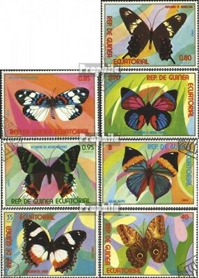 Equatorial-Guinea 1025-1031 (complete.issue) used 1976 Butterfl