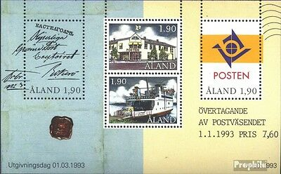 Finland-Aland block2 (complete issue) used 1993 Post sovereignt