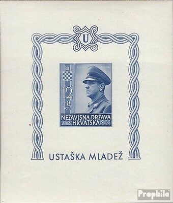 Croatia block4b (complete issue) unmounted mint / never hinged 1943 croatian Sta