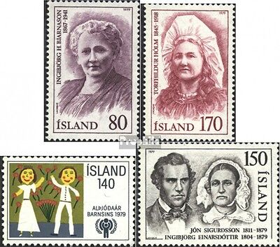 Iceland 541-542,543,545 (complete issue) unmounted mint / never hinged 1979 spec