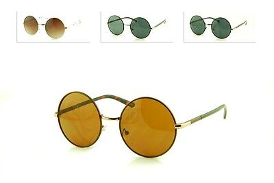 Vintage Retro John Lennon Style Classic Circle Round Sunglasses For Men & Women.
