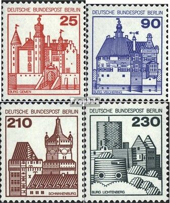 Berlin (West) 587-590 (complete issue) FDC 1979 fortresses,castles