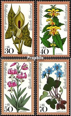 FRD (FR.Germany) 982-985 (complete issue) FDC 1978 Forest flowers