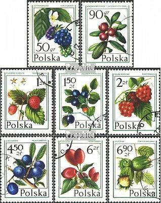 Poland 2487-2494 (complete issue) used 1977 Berries