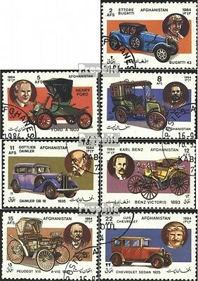 Afghanistan 1360-1366 (complete issue) used 1984 Cars