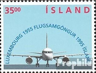 Iceland 832 (complete issue) used 1995 flight connection after