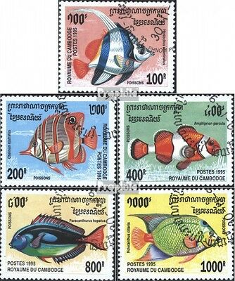 Cambodia 1543-1547 (complete issue) used 1995 Fish
