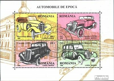 Romania block303 (complete issue) used 1996 Automobile