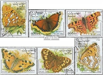 Afghanistan 1798-1803 (complete issue) used 1998 Butterflies