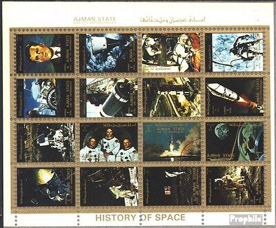 Ajman 2653-2668 Sheetlet (complete issue) used 1972 space achie