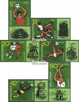 Bulgaria 3473A-3478A (complete issue) used 1986 World Cup, Mexi