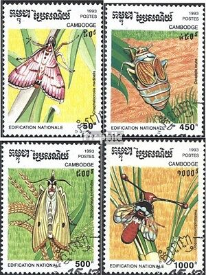 Cambodia 1397-1400 (complete issue) used 1993 Pests