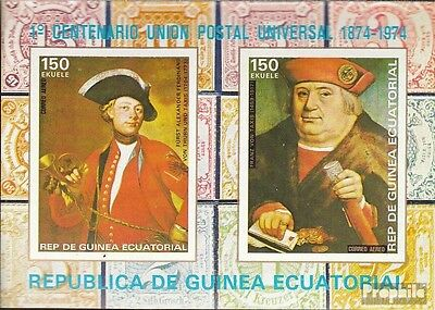 Equatorial-Guinea block110 (complete issue) used 1974 100 years