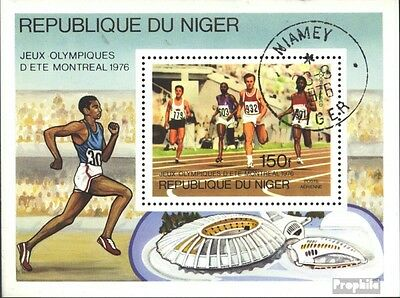 Niger block15 (complete issue) used 1976 olympic. Games, Montre