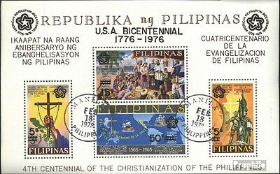 Philippines block9a (complete issue) used 1976 200 years Indepe