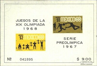 Mexico block10 (complete issue) unmounted mint / never hinged 1967 vorolympische
