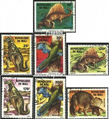 Mali 1025-1031 (complete issue) used 1984 Prehistoric Animals
