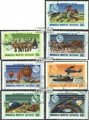 Mongolia 842-848 (complete issue) used 1974 100 years UPU