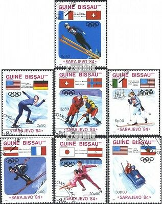 Guinea-Bissau 738-744 (complete issue) used 1984 Olympics Winte