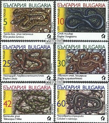 Bulgaria 3784-3789 (complete issue) unmounted mint / never hinged 1989 Snakes