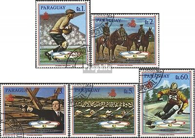 Paraguay 4275-4279 (complete issue) used 1989 Olympics Summer 1