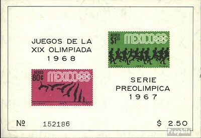 Mexico block9 (complete issue) unmounted mint / never hinged 1967 vorolympische.