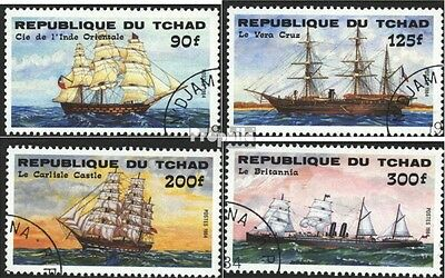 Chad 1070-1073 (complete.issue) used 1984 Vessels
